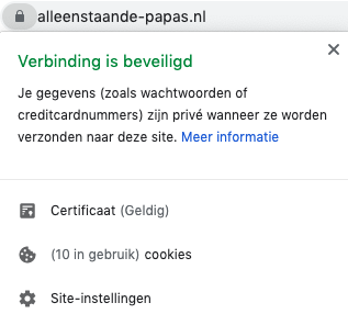 Alleenstaande-papas.nl is beveiligd met een SSL-certifcaat
