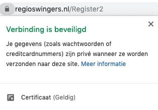 SSL-certificaat Regioswingers.nl