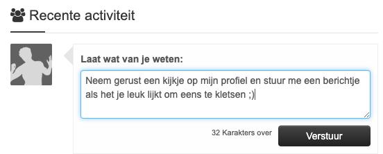 Berichtenfeed op Qupid.nl