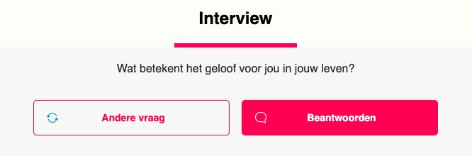 Interviewvragen op ROOTS Dating