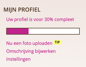 Je profiel op Alleenstaande-mamas.nl