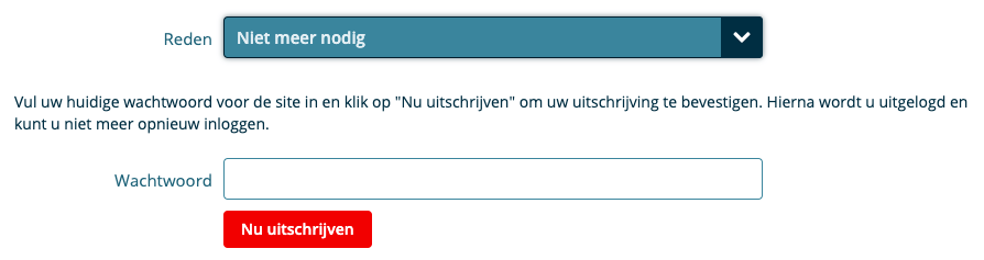 Profiel verwijderen op Cupify.nl